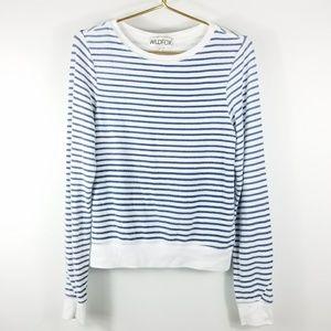 Wildfox Nautical Blue White Striped Jumper Sweater